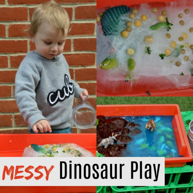 Messy Dinosaur Play