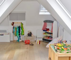Loft Conversion Playroom with Velux Roof Windows