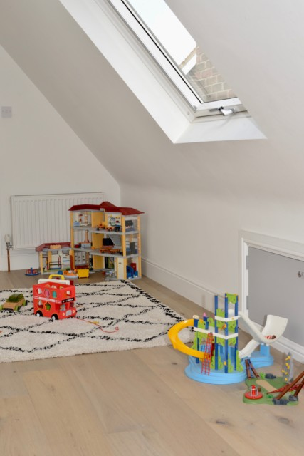 VELUX roof windows used in a playroom