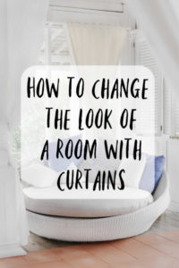 change the look of a room with curtains