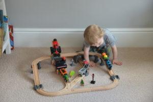 Hape wooden train set