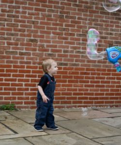 Bubbles and children