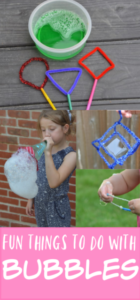 Fun things for kids to do with bubbles