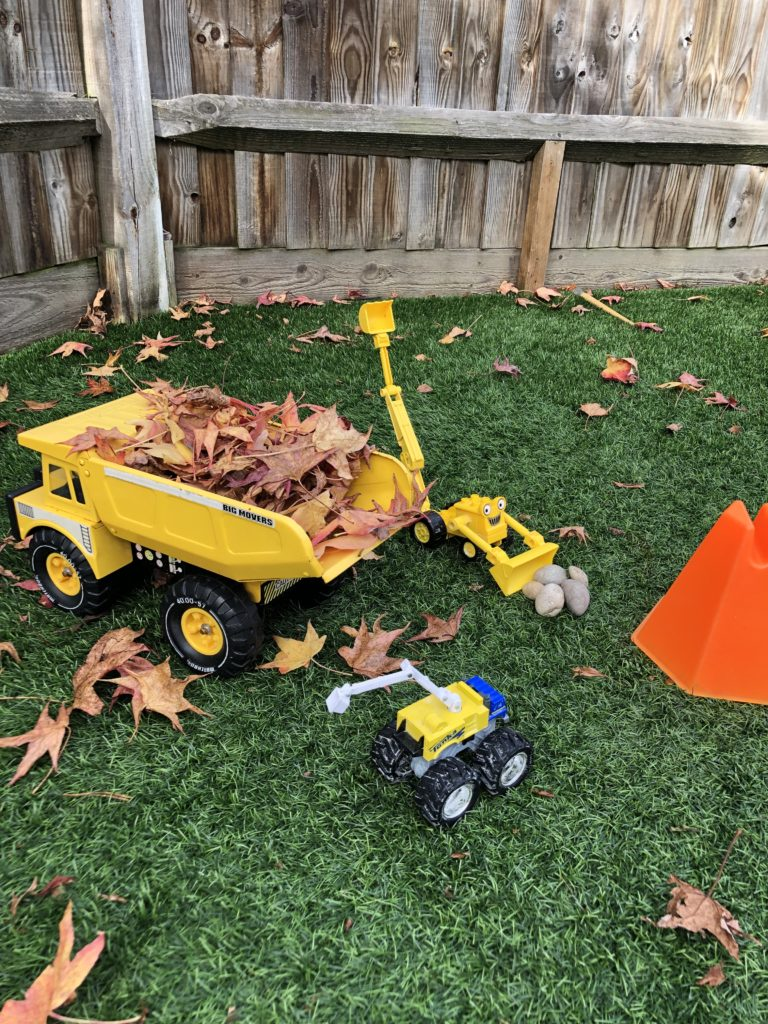 Autumn Activities for Toddlers - digger Play