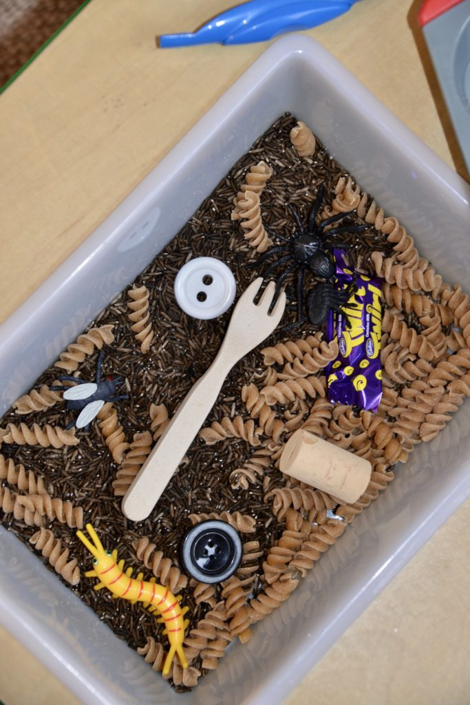 Superworm sensory tray