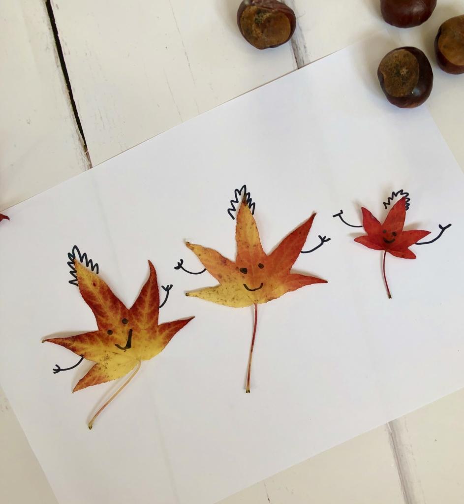 Leaf Drawing #leafcrafts #leaftcraftsforkids