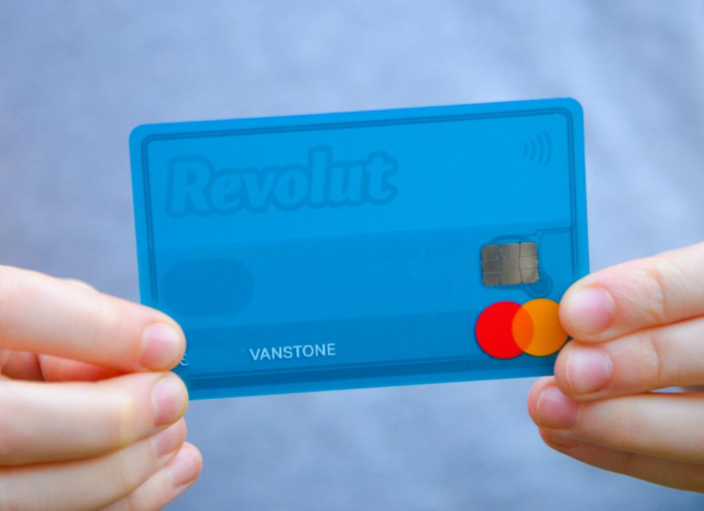 Revolut child Card in hands