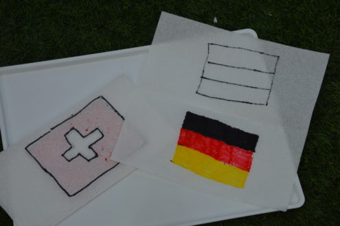 Paper towel - magic flags