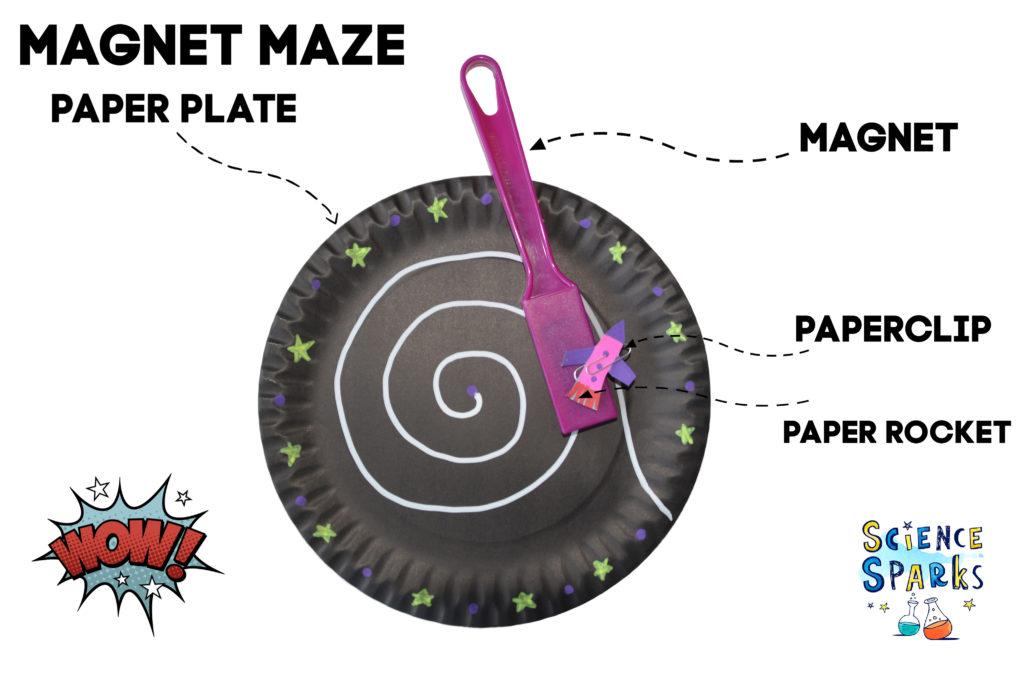 magnet maze - toddler activity