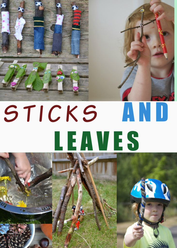 Fun things to do with sticks and leaves. Make leaf people, stick people, stickmen, stick dens, magic wands and more stick crafts #stickcrafts #naturecrafts #leafcrafts