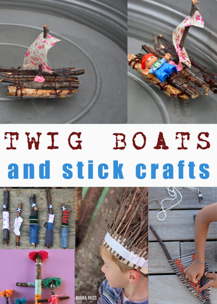 Twig boats and other stick crafts #stickboats #stickcrafts