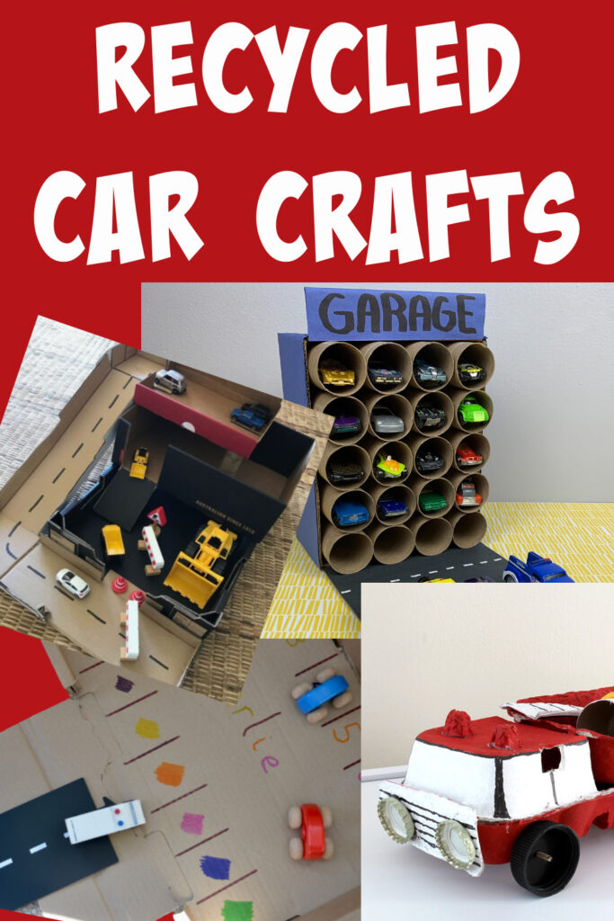 Collection of easy recycled car crafts for kids #recycledcrafts #carcrafts #transportcrafts