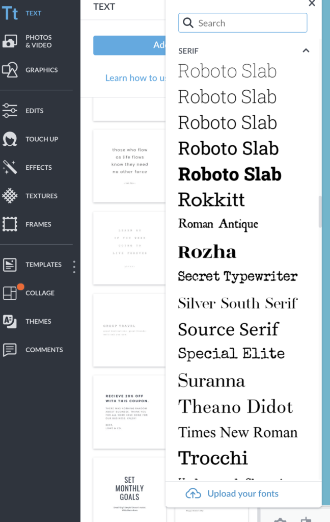 How to add your own fonts in Picmonkey