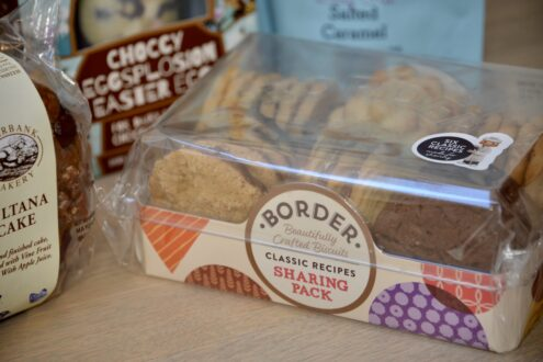 Border biscuits selection