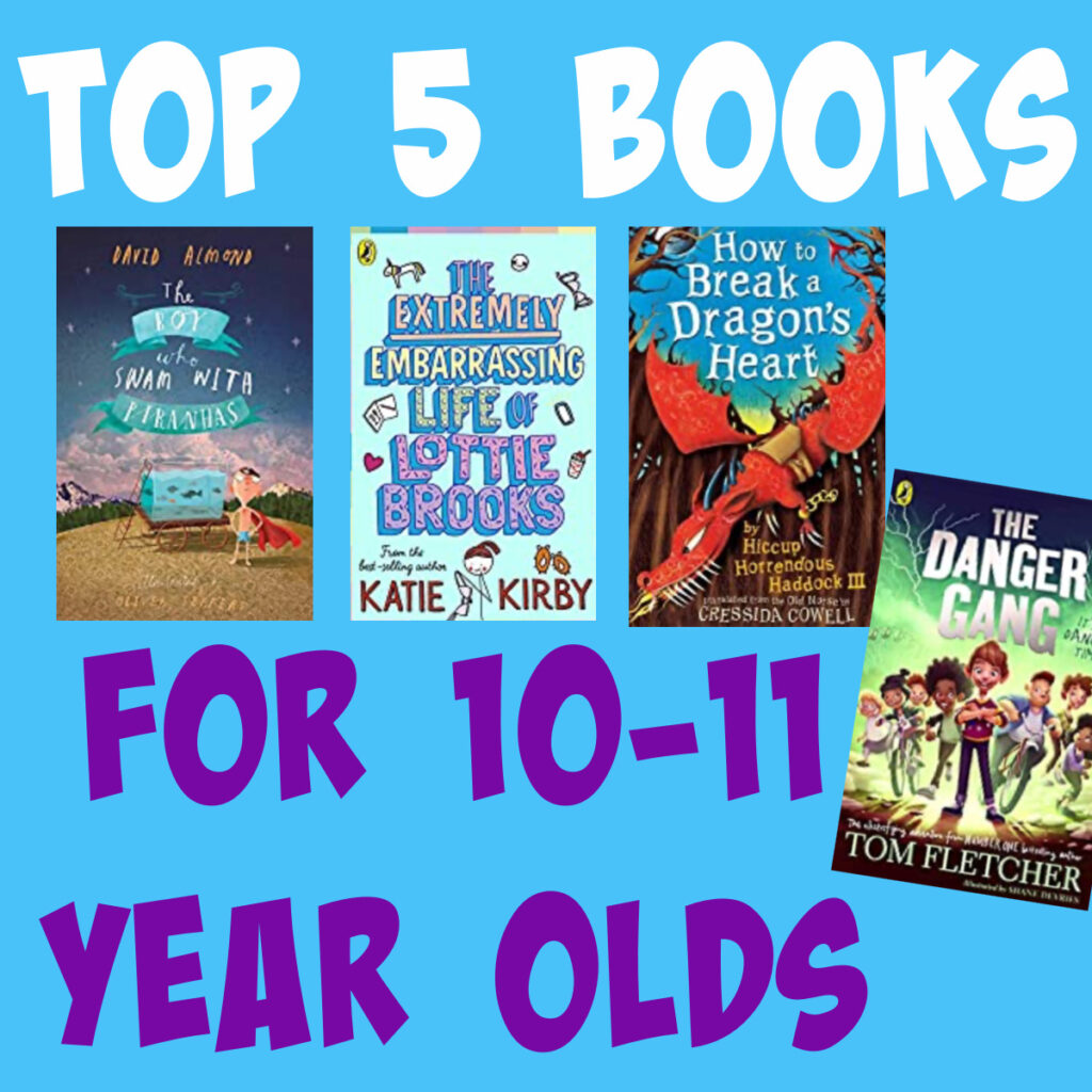 Image of top 5 recommend books for 5-11 year olds