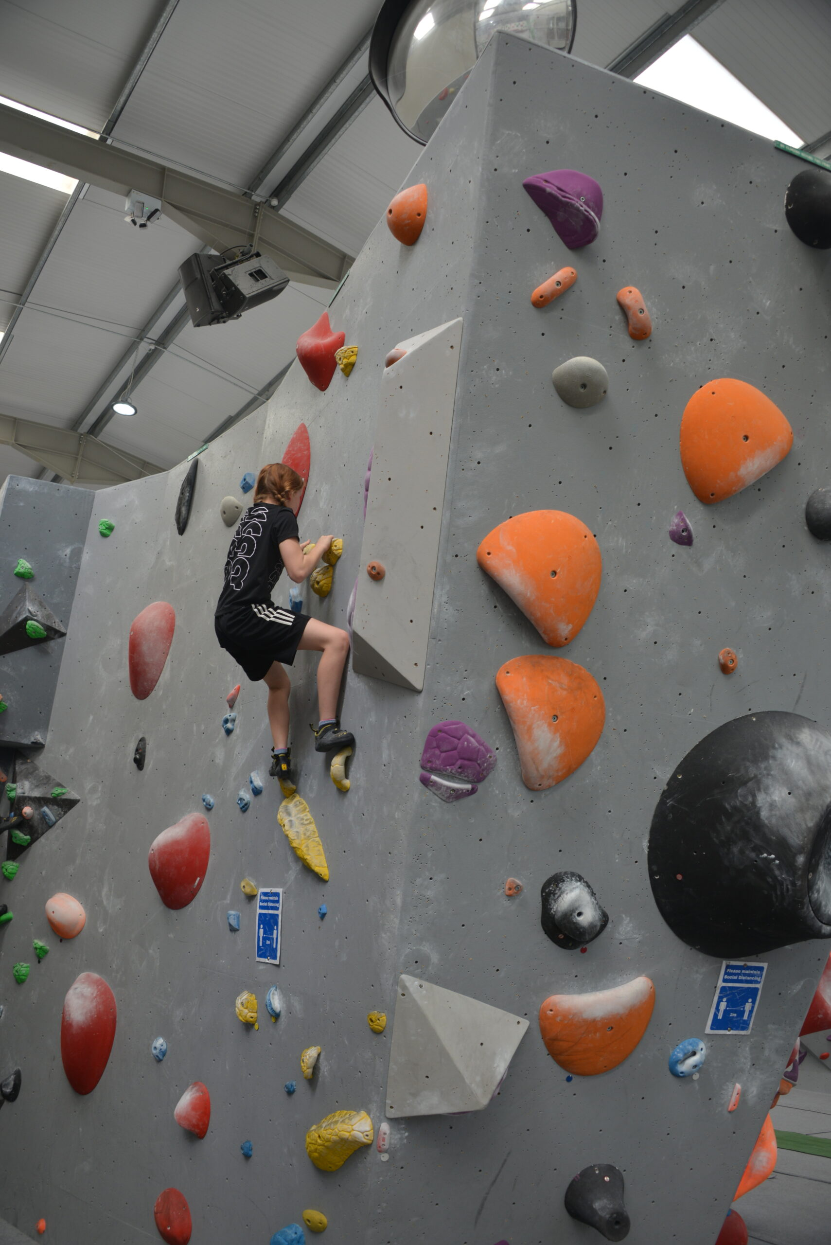Climbing wall at Oakwood Climbing Centre