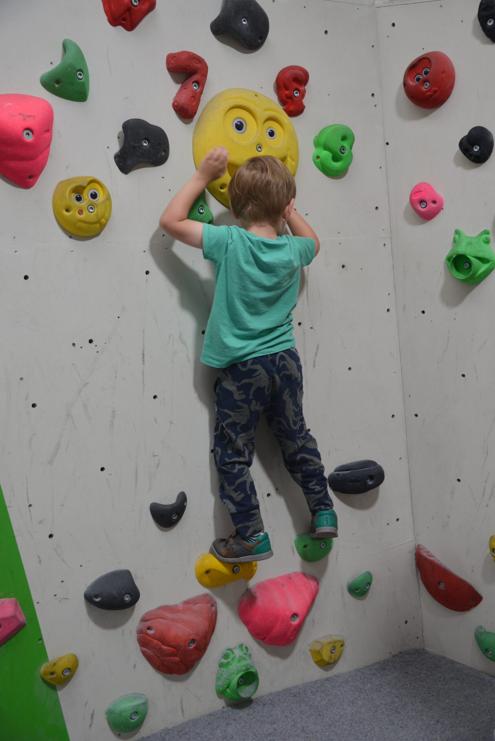 2-6 area at Oakwood Climbing Centre