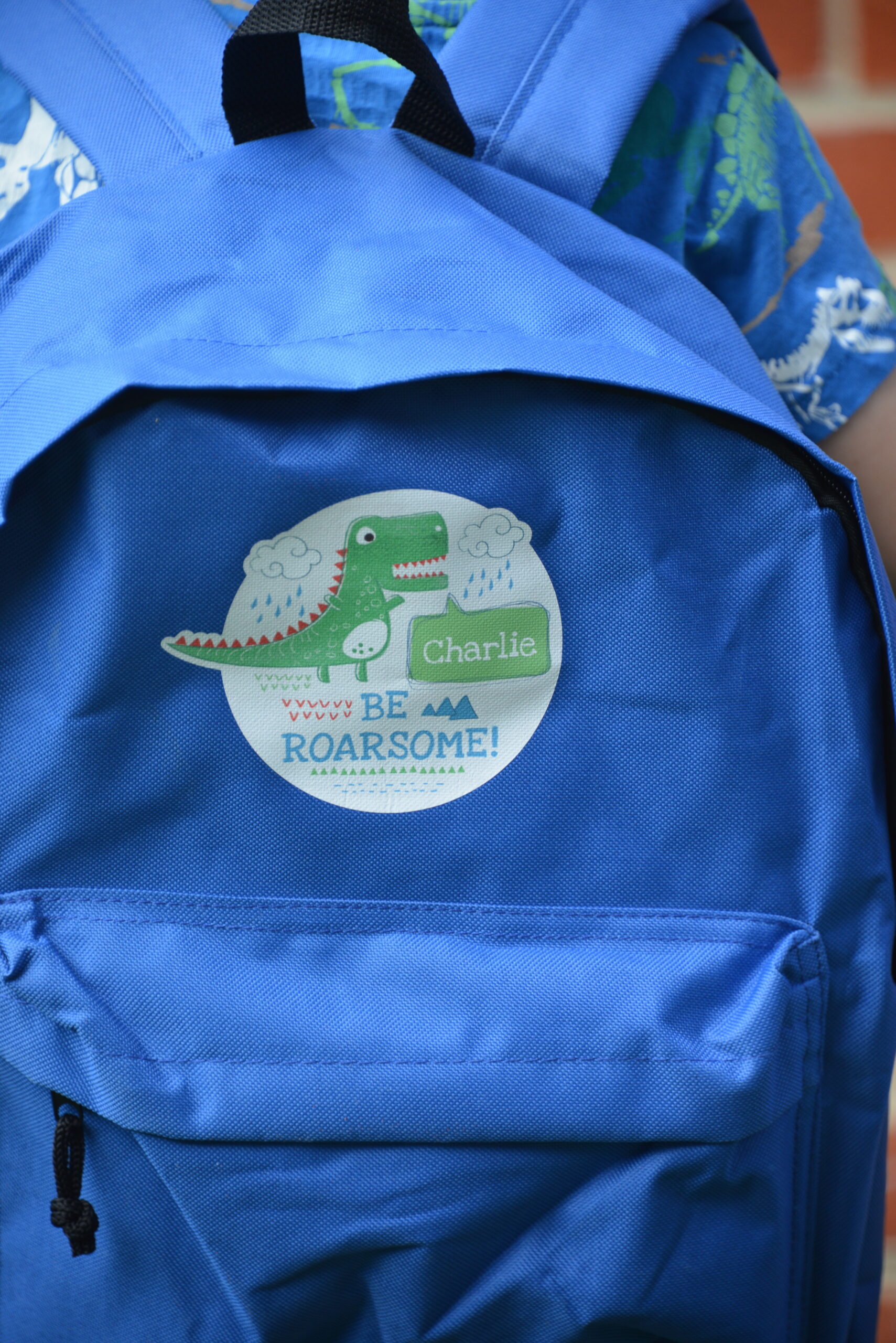 lovely personalised dinosaur backpack